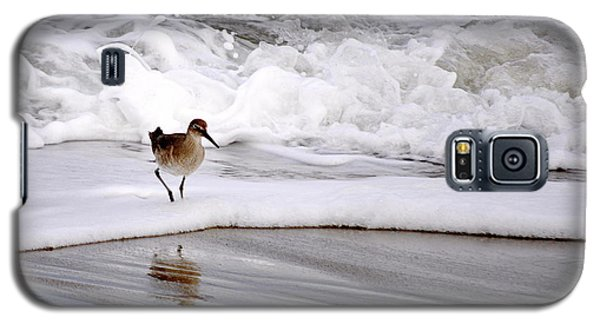 Galaxy S5 Case featuring the photograph Sandpiper In The Surf by AJ  Schibig