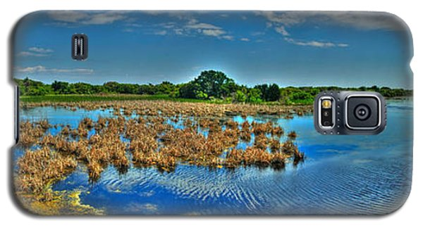 Galaxy S5 Case featuring the photograph Sandpiper Pond Panorama by Ed Roberts