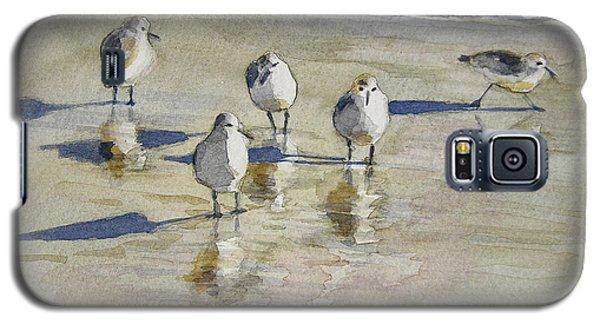 Sandpipers 2 Watercolor 5-13-12 Julianne Felton Galaxy S5 Case
