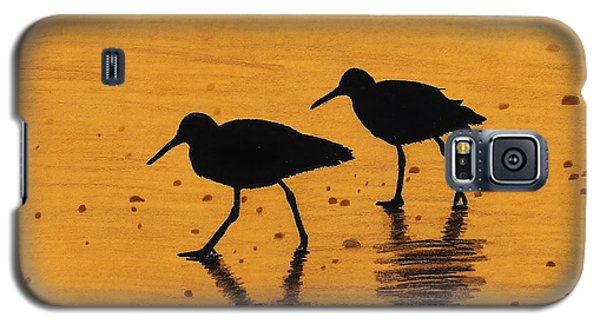 Sandpipers - At - Sunrise Galaxy S5 Case by D Hackett