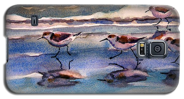 Sandpipers Running In Beach Shade 3-10-15 Galaxy S5 Case