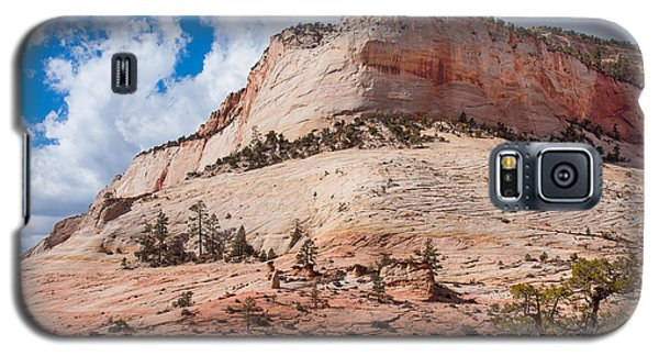 Galaxy S5 Case featuring the photograph Sandstone Mountain by John M Bailey