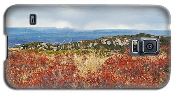 Sandstone Peak Fall Landscape Galaxy S5 Case