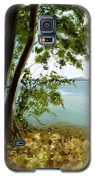 Galaxy S5 Case featuring the painting Sandusky Bay by Shawna Rowe