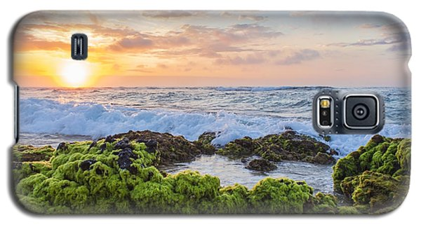 Sandy Beach Sunrise 2 Galaxy S5 Case by Leigh Anne Meeks