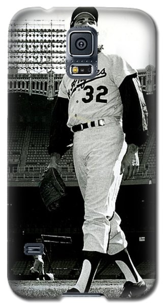 Los Angeles Dodgers Galaxy S5 Case - Sandy Koufax Vintage Baseball Poster by Gianfranco Weiss