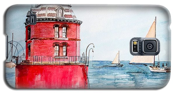 Sandy Point Lighthouse 2 Galaxy S5 Case