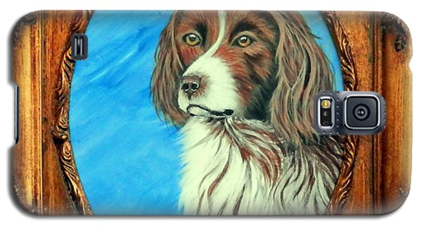 Galaxy S5 Case featuring the painting Sandy.english Springer Spaniel by Fram Cama
