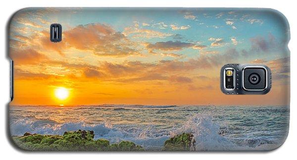 Sandy Beach Sunrise 3 Galaxy S5 Case