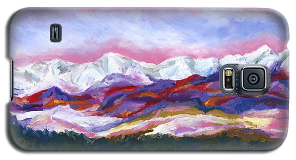 Galaxy S5 Case featuring the painting Sangre De Cristo Mountains by Stephen Anderson