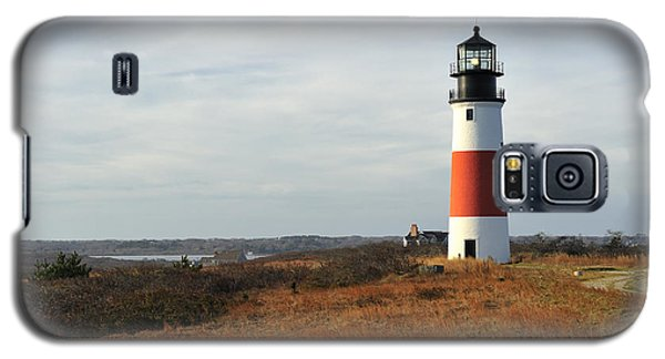 Sankaty Head Lighthouse Nantucket In Autumn Colors Galaxy S5 Case by Marianne Campolongo