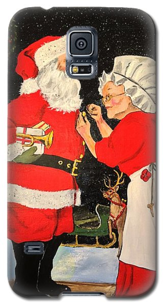 Santa And Mrs Galaxy S5 Case by Alan Lakin
