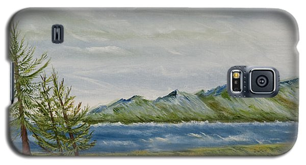 Galaxy S5 Case featuring the painting Santa Barbara Sentinel  by Susan Culver