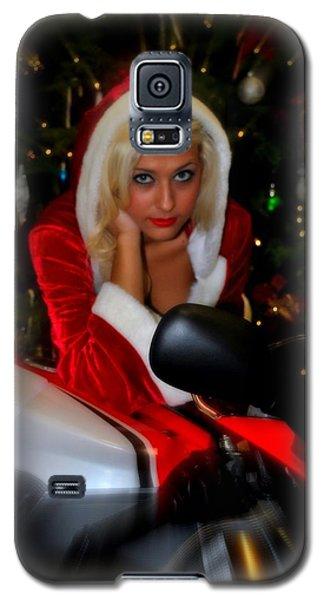Santa Biker Galaxy S5 Case by Amanda Eberly-Kudamik