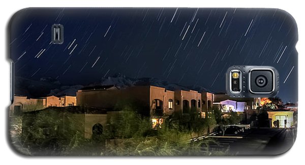 Galaxy S5 Case featuring the photograph Santa Catalina Mountain Startrails by Dan McManus