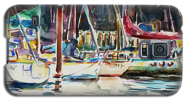 Galaxy S5 Case featuring the painting Santa Cruz Dock by Xueling Zou