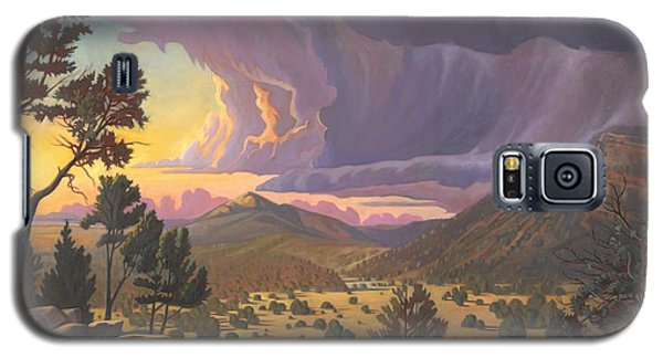 Galaxy S5 Case featuring the painting Santa Fe Baldy by Art James West