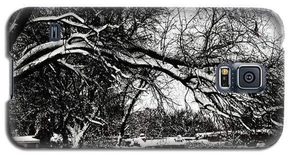 Galaxy S5 Case featuring the digital art Santa Fe Snow Day by Rhonda Strickland