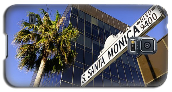 Santa Monica Blvd Sign In Beverly Hills California Galaxy S5 Case by Paul Velgos