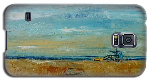Galaxy S5 Case featuring the painting Santa Monica Boardwalk by Lindsay Frost