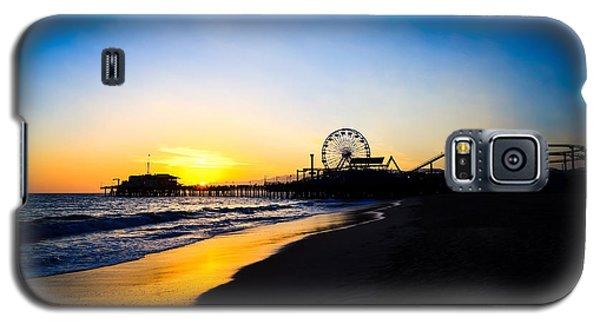 Santa Monica Pier Pacific Ocean Sunset Galaxy S5 Case by Paul Velgos