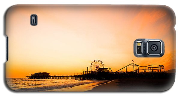 Santa Monica Pier Sunset Southern California Galaxy S5 Case by Paul Velgos
