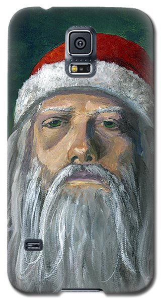 Santa Portrait Art Red And Green Galaxy S5 Case