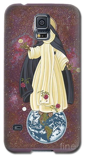 Galaxy S5 Case featuring the painting Santa Rosa Patroness Of The Americas 166 by William Hart McNichols