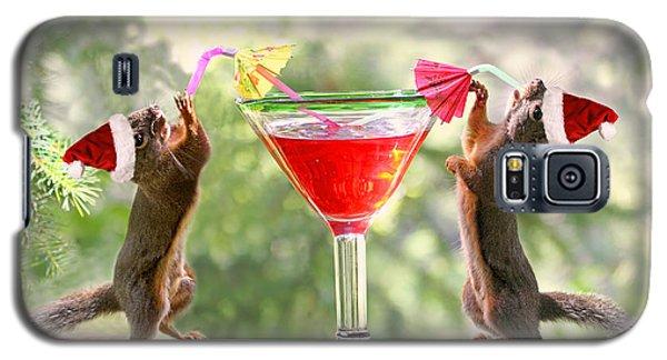 Santa Squirrels Celebrating Christmas Galaxy S5 Case