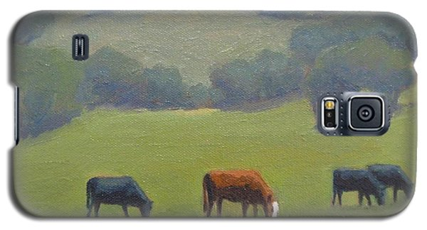 Galaxy S5 Case featuring the painting Santa Ynez Cows by Jennifer Boswell