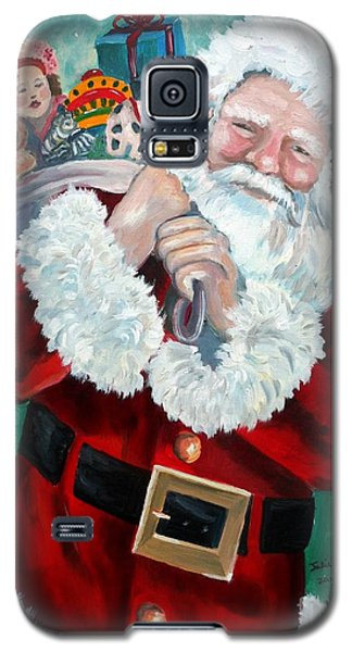 Galaxy S5 Case featuring the painting Santa's Coming To Town by Julie Brugh Riffey