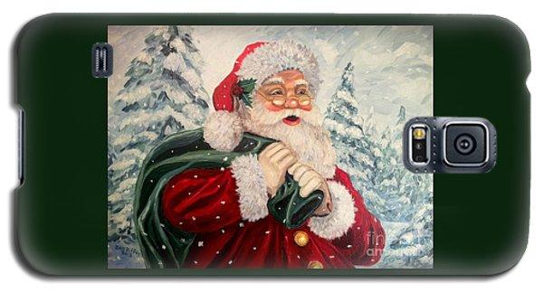 Santa's On His Way Galaxy S5 Case by Julie Brugh Riffey
