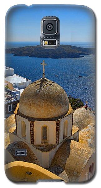 Santorini Caldera With Church And Thira Village Galaxy S5 Case