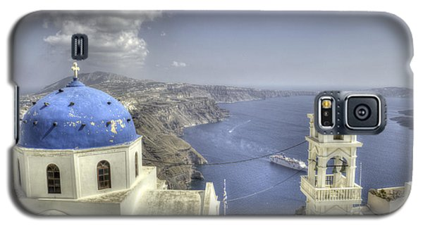 Santorini Churches Galaxy S5 Case by Alex Dudley