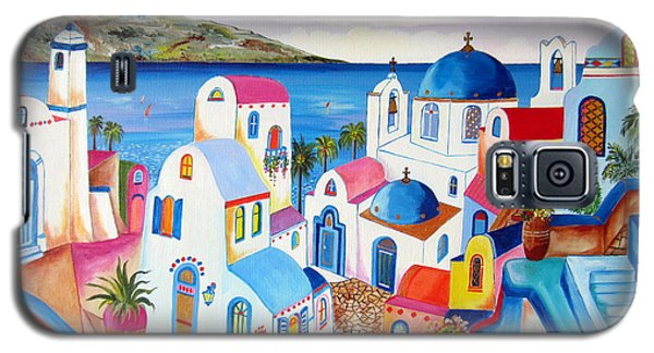 Santorini Greece Galaxy S5 Case by Roberto Gagliardi