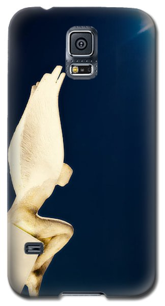 Galaxy S5 Case featuring the photograph Santorini Guardian by Meirion Matthias