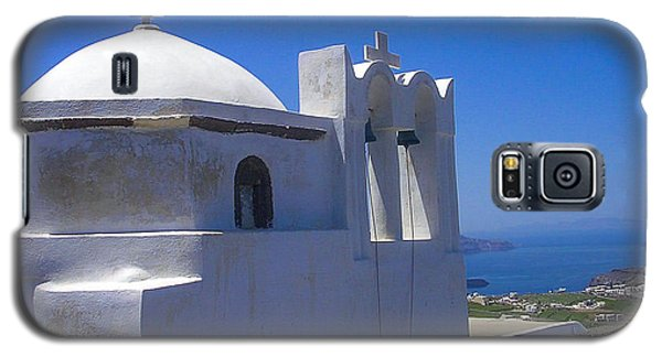 Santorini Hilltop Chapel Galaxy S5 Case