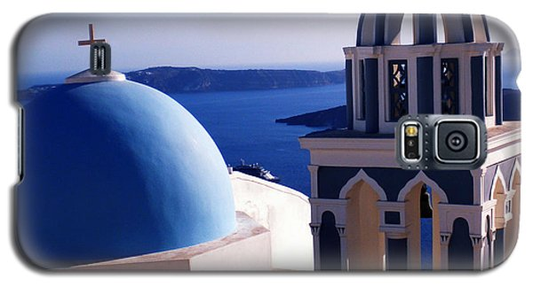 Galaxy S5 Case featuring the photograph Santorini  Island Church Greece  by Colette V Hera  Guggenheim