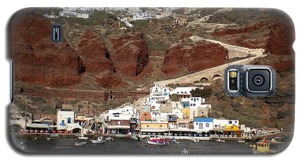 Santorini  Island  View To Oia Greece Galaxy S5 Case