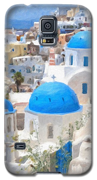 Santorini Oil Painting Galaxy S5 Case