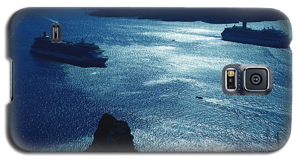 Galaxy S5 Case featuring the photograph Santorini  Silent Night View Greece by Colette V Hera  Guggenheim