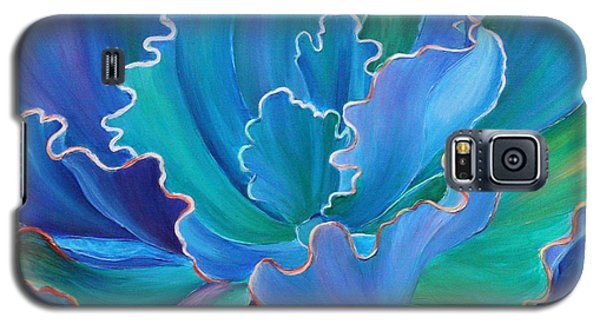 Galaxy S5 Case featuring the painting Sapphire Solitaire by Sandi Whetzel