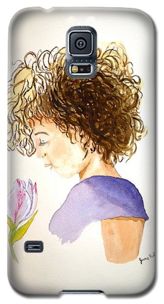 Galaxy S5 Case featuring the painting Sarah by June Holwell