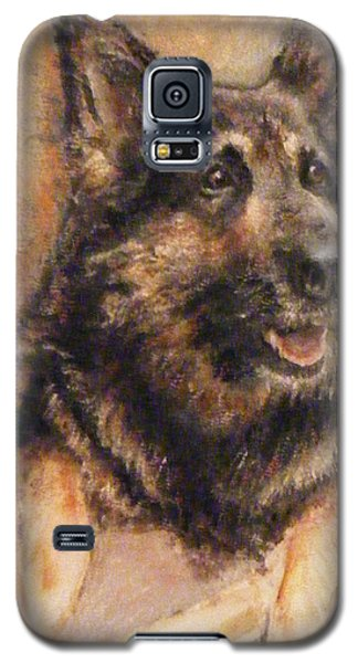 Galaxy S5 Case featuring the painting Sasha German Shepherd by Richard James Digance