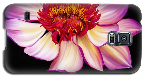 Galaxy S5 Case featuring the painting Satin Flames by Laura Bell