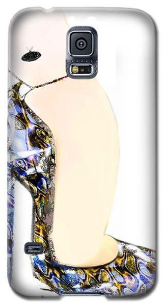Satin Slipper - Blue Shoe Galaxy S5 Case