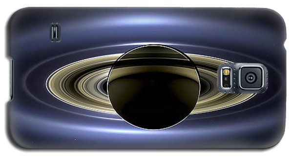 Saturn Mosaic With Earth Galaxy S5 Case