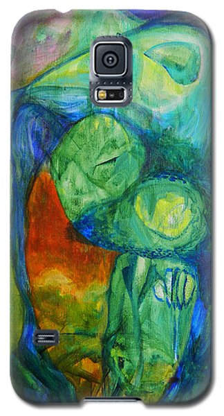 Galaxy S5 Case featuring the painting Saurian Foyer by Christophe Ennis