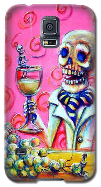 Galaxy S5 Case featuring the painting Mi Sauvignon Blanc by Heather Calderon