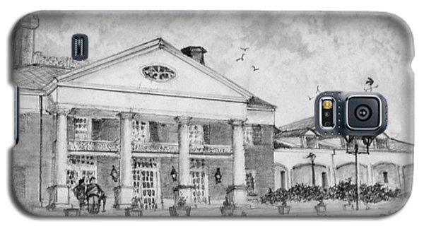 Galaxy S5 Case featuring the drawing Savannah Center by Jim Hubbard